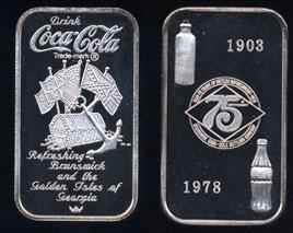 WWM-94 Brunswick, Ga. Coke Silver Artbar