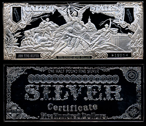 Pure Silver Currency Notes