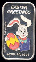 CEM-21EN Easter 1974 Silver Artbar