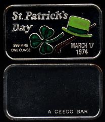 CEM-16EN (1974) St. Patrick's Day Ingot