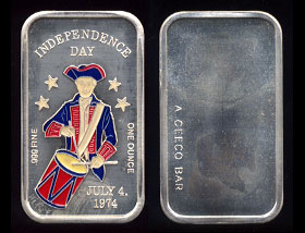 CEM-25EN (1974) Independence Day July 4th, 1974 Silver Artbar