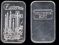 CM-4 Easter 1974 Mintage: 250 Silver Artbar