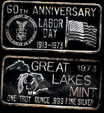 GLM-5 60th Anniversary of Labor Day 1973 Silver Artbar