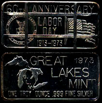 GLM-5C 60th Anniversary of Labor Day - Cancelled 1973 Silver Artbar