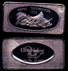 GLM-7V 1973 Happy Thanksgiving Silver Art bar