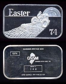 GSM-1 Easter 1974 Silver Artbar