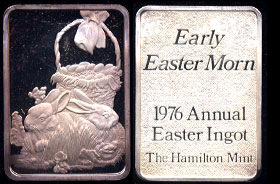 "HAM-204  1976 Annual Easter Ingot ""Early Easter Morn"" In Box of Issue"