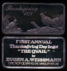 HAM-3 Thanksgiving 1974 Silver Artbar