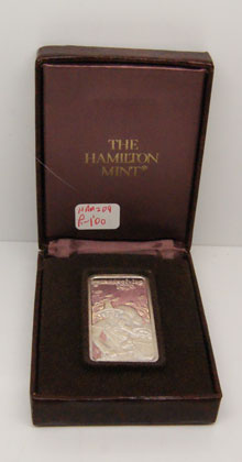 "Hamilton Mint   Thanksgiving Ingot 1976 ""TheThanksgiving Bounty"" In Box of Issue"