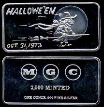 HAM-4  Halloween Oct.31,1973 Silver Artbar