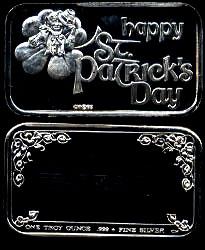 CCM-83 (1983) Happy St. Patrick's Day Silver Artbar