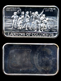 LBTY-6V (1973) Landing of Columbus Silver Artbar
