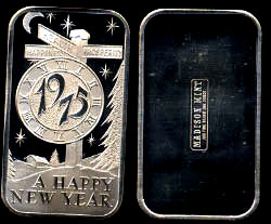MAD-106 A Happy New Year 1975 Silver Artbar