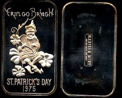 MAD-111 Erin Go Bragh St. Patrick's Day 1975 Silver Artbar