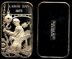 MAD-139 Labor Day 1975 Silver Artbar