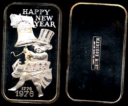 MAD-141 Happy New Year 1975 Silver Artbar