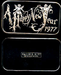 MAD-162 A Happy New Year 1977 Silver Artbar