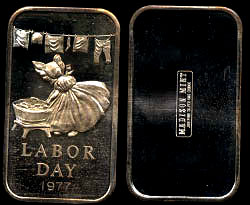 MAD-172 Labor Day 1977 Silver Artbar