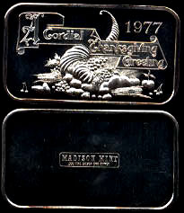 MAD-184 A Gordial Thanksgiving Greeting 1977 Silver Artbar