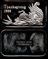 MAD-290 Thanksgiving 1986 Silver Artbar