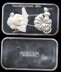 MAD-42 Thanksgiving 1974  Silver Artbar