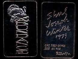 MEM-30 Thanksgiving Abundance Shirl Joseph Winter Silver Bar