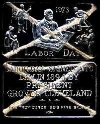 MEM-10C Labor Day 973 - Cancelled Silver Artbar