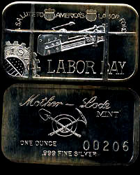 MLM-41C (1973) Labor Day - Cancelled Silver Artbar