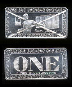 ONE-2C Labor Day 1973 - Cancelled Silver Artbar