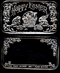 CCM-9V Happy Easter Silver Artbar
