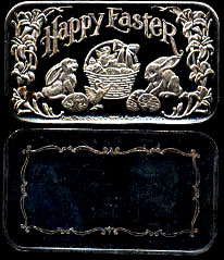 CCM-9 (1983) Happy Easter Silver Artbar