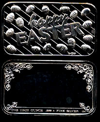 CCM-82 (1988) Happy Easter Silver Artbar