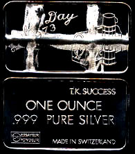 Swiss-1C 50 Made Labor Day 1973 Silver Artbar
