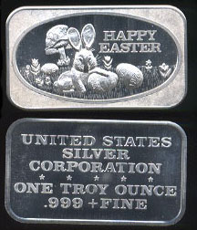 USSC-214 Happy Easter Silver Art Bar