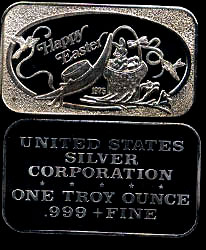 USSC-215 Happy Easter 1975 Silver Artbar