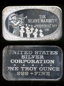 "USSC-216 (1974) Memorial Day 1974 ""The Silent Majority"" Silver Artbar"
