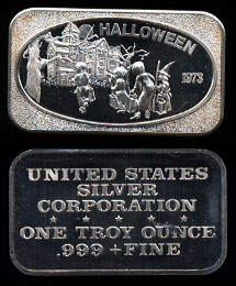 1973 USSC-210 Halloween Silver bar