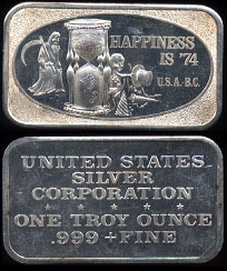 USSC-157 Happy New Year Happiness is '74