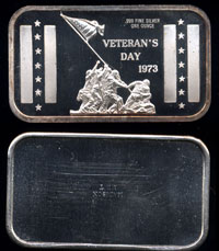 MAD-29 Veterans Day 1973 Silver Art bar