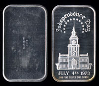 MAD-37V Independence Hall July 4th, 1973 Silver Art bar