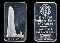 Swiss-21  First National Bank of Chicago Silver Bar