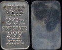 Silver Issue 2 Gram .999 Fine Silver Bar