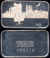 AM-2 (1975) Who's Next Realty Mintage: 150 Serial # 116 Silver Artbar