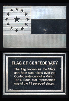 Flag of Confederacy Silver Artbar