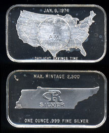 CRS-1 (1974) Daylight Savings Time Jan. 6, 1974 Silver Artbar