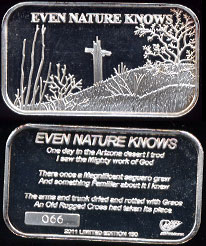 DOTY-UL Even Nature Knows 1 oz .999 Fine Silver Artbar