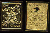 St Louis Post Office 20 Cent 24k Gold over Sterling Silver Artbar