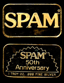 GOLD-31 SPAM 50th Anniversary (Gold Plated) Silver Artbar