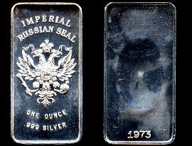 HEP-1 Imperial Russian Seal Silver Artbar