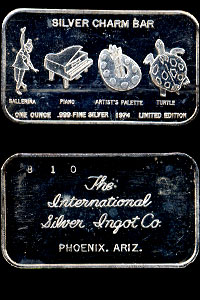 ISIC-6 (1974) Silver Charm Bar Silver Artbar